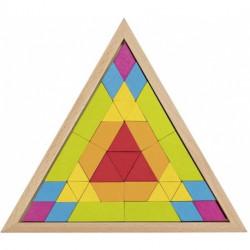 Goki Drewniane Puzzle Układanka MOZAIKA TRÓJKĄT 58590