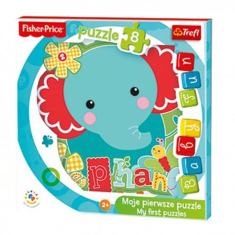 Trefl - 36119 - Moje Pierwsze Puzzle - Puzzle Baby - Fisher Price - Słonik
