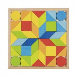 Goki Drewniane Puzzle Układanka MOZAIKA TANGRAM 58747