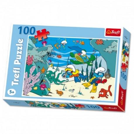 Trefl - 16179 - Puzzle 100 - Smerfy - Pod Wodą
