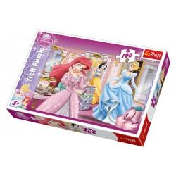 Trefl - 16186 - Puzzle 100 - Księżniczki - Przygotowania do Balu