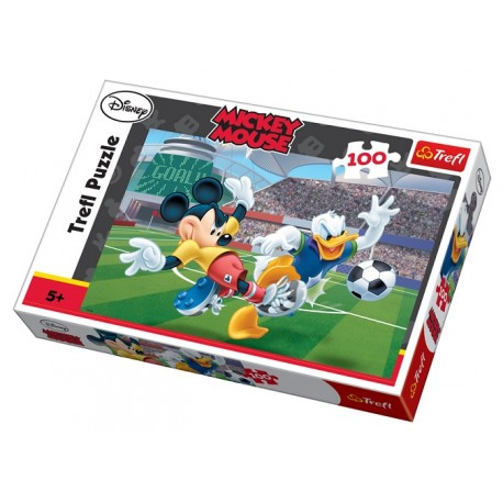 Trefl - 16122 - Puzzle 100 - Myszka Miki - Na Stadionie