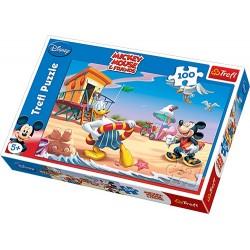 Trefl - 16116 - Puzzle 100 - Myszka Miki - Nauka Pływania