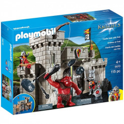 PLAYMOBIL 5670 KNIGHTS BRAMA ZAMKOWA Z OLBRZYMIM TROLEM
