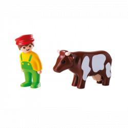 PLAYMOBIL 6972 Playmobil 1.2.3 ROLNIK Z KROWĄ