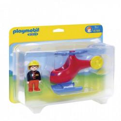 PLAYMOBIL 6789 Playmobil 1.2.3 HELIKOPTER STRAŻY POŻARNEJ