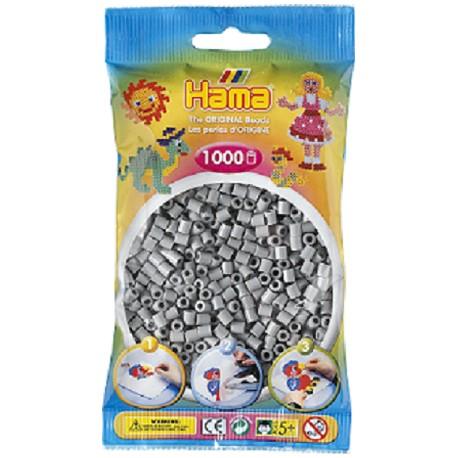 Hama - Midi - 20717 - Koraliki Popielate - Zestaw Uzupełniający 1000 szt