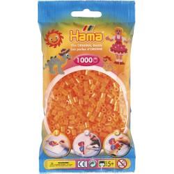 Hama - Midi - 20738 - Koraliki Pomarańczowe Neonowe - Zestaw Uzupełniający 1000 szt