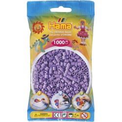 Hama - Midi - 20745- Koraliki Liliowe Pastelowe - Zestaw Uzupełniający 1000 szt