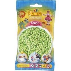 Hama - Midi - 20747- Koraliki Zielone Pastelowe - Zestaw Uzupełniający 1000 szt