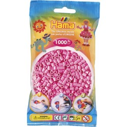 Hama - Midi - 20748 - Koraliki Różowe Pastelowe - Zestaw Uzupełniający 1000 szt