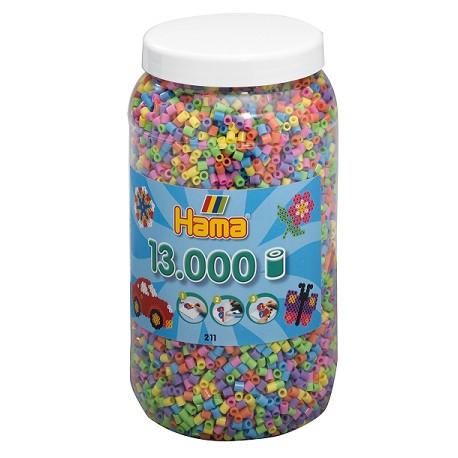 Hama - Midi - 21150 - Koraliki Kolorowe Pastelowe - Zestaw Uzupełniający 13000 szt