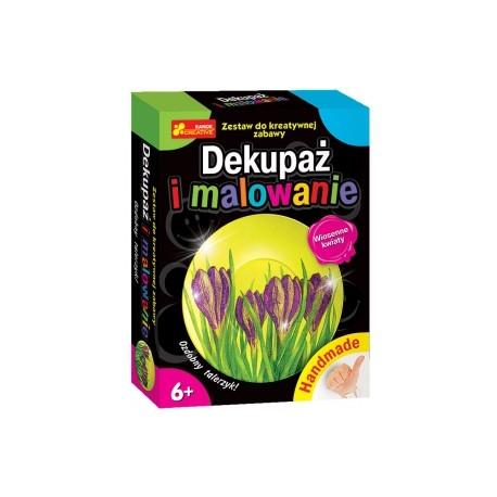 Ranok Creative - 3477- Dekupaż i Malowanie - Ozdobny Talerzyk - Wiosenne Kwiaty