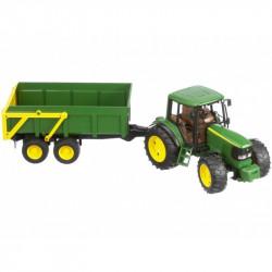 BRUDER - Traktor John Deere 6920 z Przyczepą - 02058