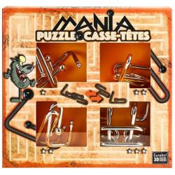 G3 EUREKA Puzzle Metalowe 3D ŁAMIGŁÓWKA METALOWA Zestaw Pomarańczowy 473201