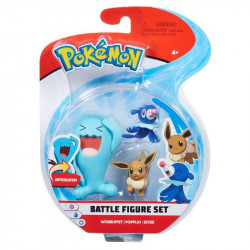 POKEMON Zestaw Figurek WOBBUFFET POPPLIO EEVEE 97525