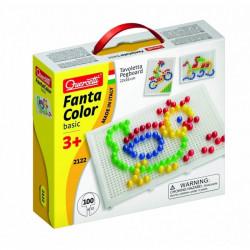 Quercetti Mozaika Fanta Color UKŁADANKA Z PINEZKAMI KURKA 100Elementów 2122