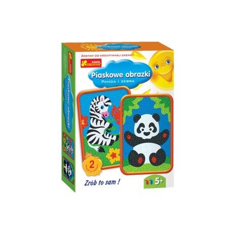 Ranok Creative - 3613 - Piaskowe Obrazki - Panda i Zebra