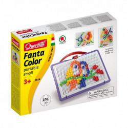 Quercetti Mozaika Fanta Color UKŁADANKA Z PINEZKAMI WRÓBLE 100Elementów 0924