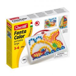 Quercetti Mozaika Fanta Color UKŁADANKA Z PINEZKAMI WIELORYB 280Elementów 0950