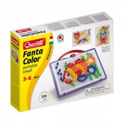 Quercetti Mozaika Fanta Color UKŁADANKA Z PINEZKAMI RYBA 150Elementów 0922