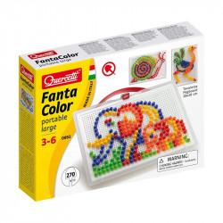 Quercetti Mozaika Fanta Color UKŁADANKA Z PINEZKAMI SŁONIE 270Elementów 0952