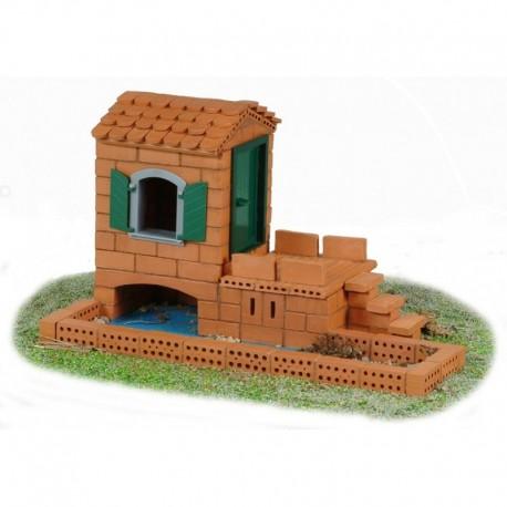 Teifoc - 4100 - Budowle z Cegiełek - Domek na Wodzie