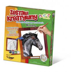 MIRAGE HOBBY Zestaw Kreatywny Malowanie 3D KOŃ MUSTANG 63006