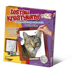 MIRAGE HOBBY Zestaw Kreatywny Malowanie 3D Kot DACHOWIEC 62002