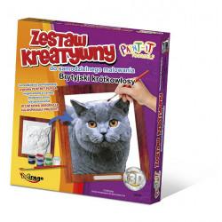 MIRAGE HOBBY Zestaw Kreatywny Malowanie 3D Kot BRYTYJSKI 62001