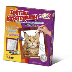 MIRAGE HOBBY Zestaw Kreatywny Malowanie 3D Kot MAINE COON 62003