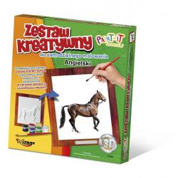 MIRAGE HOBBY Zestaw Kreatywny Malowanie 3D Koń ANGIELSKI 63002