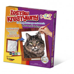 MIRAGE HOBBY Zestaw Kreatywny Malowanie 3D Kot NORWESKI LEŚNY 62004