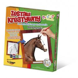 MIRAGE HOBBY Zestaw Kreatywny Malowanie 3D Koń HOLSZTYŃSKI 63004