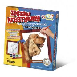 MIRAGE HOBBY Zestaw Kreatywny Malowanie 3D Pies COCKER SPANIEL 61006