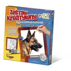 MIRAGE HOBBY Zestaw Kreatywny Malowanie 3D Pies OWCZAREK NIEMIECKI 61004