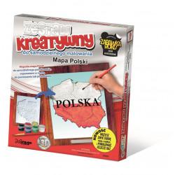 MIRAGE HOBBY Zestaw Kreatywny Malowanie 3D MAPA POLSKI 65003