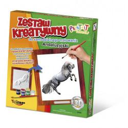 MIRAGE HOBBY Zestaw Kreatywny Malowanie 3D Koń ANDALUZYJSKI 63001