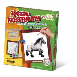 MIRAGE HOBBY Zestaw Kreatywny Malowanie 3D Koń BRETOŃSKI 63003