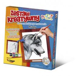 MIRAGE HOBBY Zestaw Kreatywny Malowanie 3D Pies HUSKY 61001
