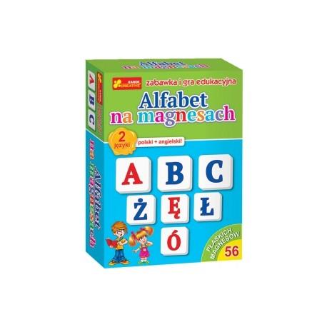 RANOK CREATIVE 3323 - Literki Magnetyczne - Alfabet Polski i Angielski - ALFABET NA MAGNESACH