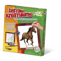 MIRAGE HOBBY Zestaw Kreatywny Malowanie 3D Koń QUARTER HORSE 63008