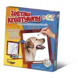MIRAGE HOBBY Zestaw Kreatywny Malowanie 3D Pies LABRADOR 61002