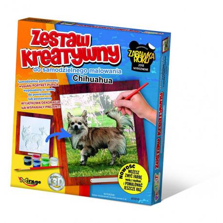 MIRAGE HOBBY Zestaw Kreatywny Malowanie 3D Pies CHIHUAHUA 61010