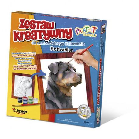 MIRAGE HOBBY Zestaw Kreatywny Malowanie 3D Pies ROTTWEILER 61005