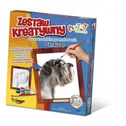 MIRAGE HOBBY Zestaw Kreatywny Malowanie 3D Pies SZNAUCER 61007