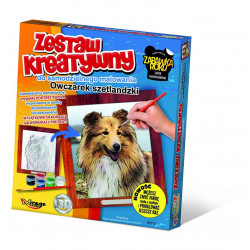 MIRAGE HOBBY Zestaw Kreatywny Malowanie 3D Pies OWCZAREK SZETLANDZKI 61012