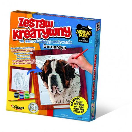 MIRAGE HOBBY Zestaw Kreatywny Malowanie 3D Pies BERNARDYN 61009