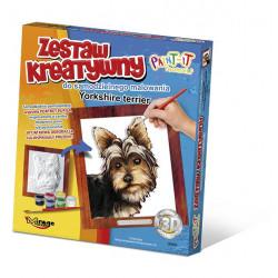 MIRAGE HOBBY Zestaw Kreatywny Malowanie 3D Pies YORKSHIRE TERRIER 61008