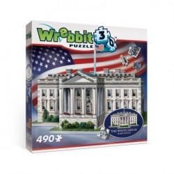 WREBBIT Puzzle 3D Biały Dom 490elementów 01007